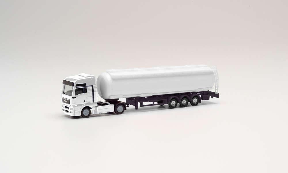 Herpa 013529 MINIKIT ... on TGX XXL Camion transporteur de-Hängerzug-blanc 1:87 Neuf