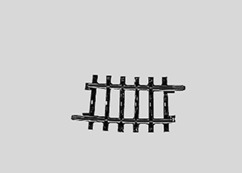 Märklin 2224 K-Gleis gebogen  R1 7,5°