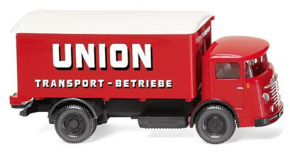 "Wiking 047603 1:87 Büssing 4500 Koffer-Lkw ""Union Transport"" - Bild 1"
